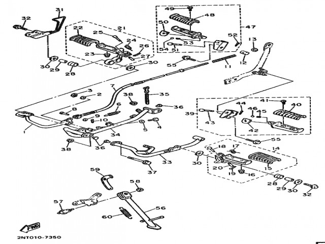 Pedal freno trasero Yamaha Virago 535 1988-1995
