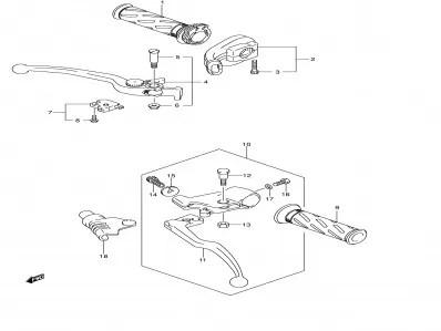 Caña acelerador plastico Suzuki V strom 650 2004-2006