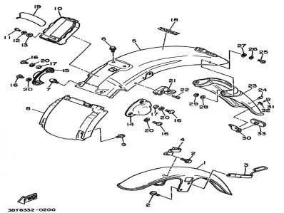 Embellecedor amortiguador derecho Yamaha Virago 535 1988-1995