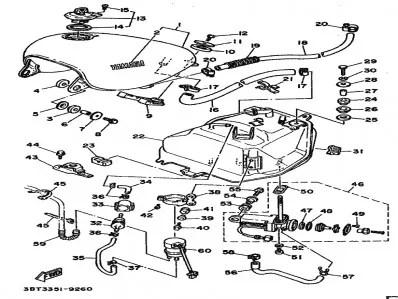 Tapón de gasolina Yamaha Virago 535 1988-1995