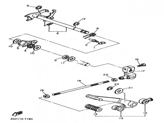 Palanca de cambio Yamaha Virago 535 1988-1995