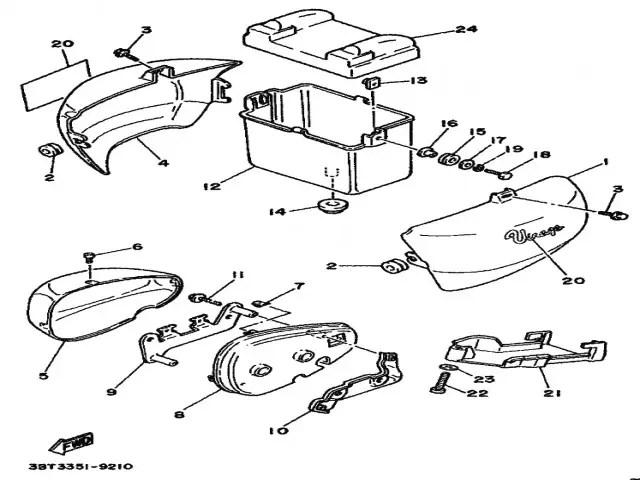 Pulmón derecho Yamaha Virago 535 1988-1995
