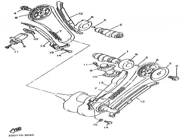 Cadena de distribución Yamaha Virago 535 1988-1995