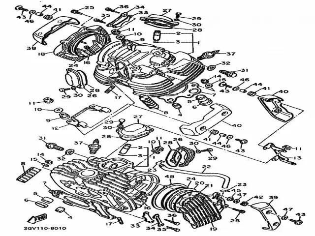 Embellecedor culata izquierdo Yamaha Virago 535 1988-1995
