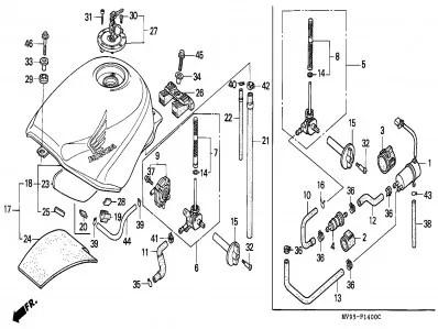 Grifo gasolina Honda Cbr 600 1991-1996