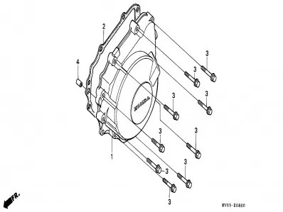 Tapa encendido de motor Honda Cbr 600 1991-1996