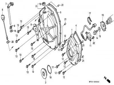Tapa embrague de motor Honda Cbr 600 1991-1996