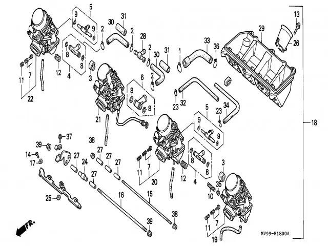 Bateria carburadores Honda Cbr 600 1991-1996