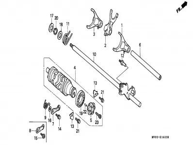 Carrete selector Honda Cbr 600 1991-1996