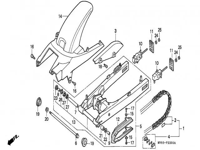 Tensor basculante Honda Cbr 600 1991-1996