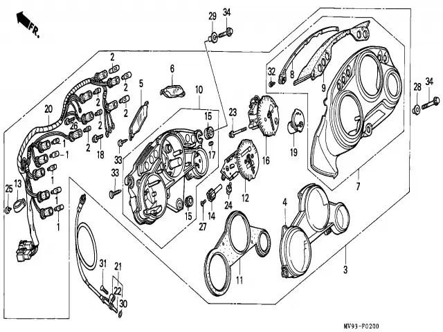 Reloj cuenta vueltas Honda Cbr 600 1991-1996