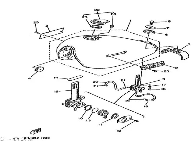 Depósito de gasolina Yamaha Sr 250 1980-1989