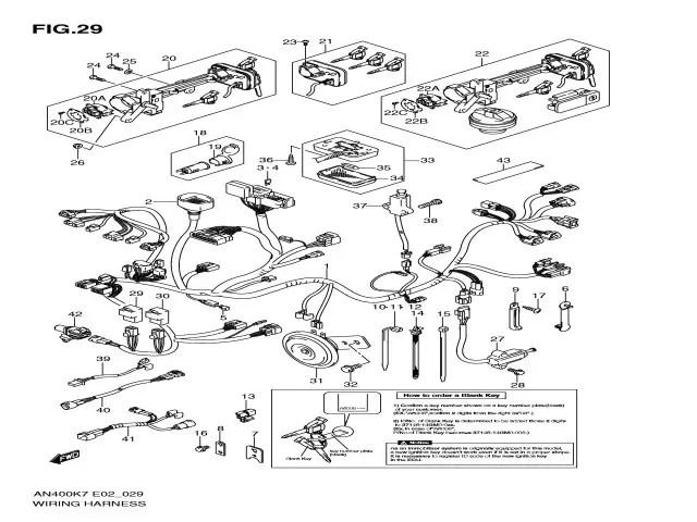Sistema electrico completo Suzuki Burgman 400 2007-2013