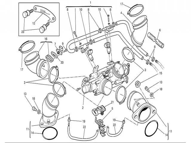 Sensor temperatura aire Ducati Monster 696 2008-2011