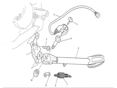 Interruptor pata de cabra Ducati Monster 696 2008-2011