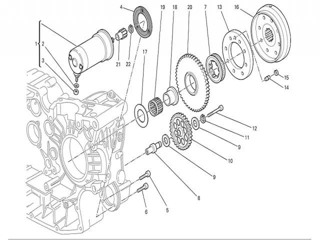 Bendix de arranque Ducati Monster 696 2008-2011