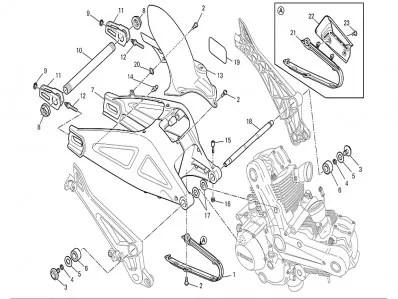 Basculante Ducati Monster 696 2008-2011