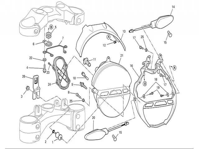 Araña faro Ducati Monster 696 2008-2011