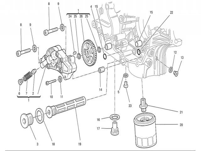 Bomba de aceite Ducati Monster 696 2008-2011