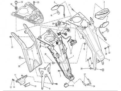 Aleta porta matrícula Ducati Monster 696 2008-2011