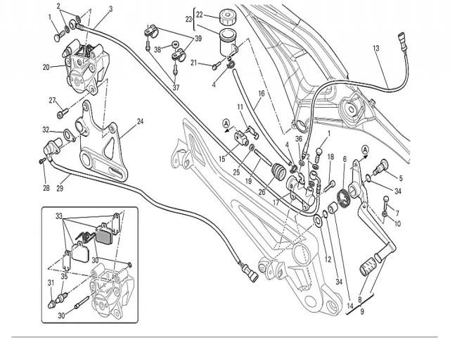 Pastillas de freno traseras usadas Ducati Monster 696 2008