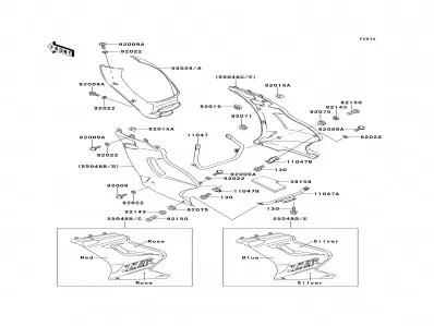 Araña radiador Kawasaki Zzr 250 1990-2004