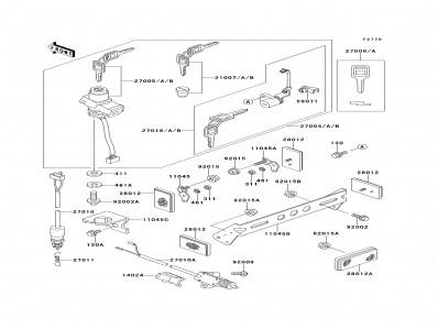 Interruptor pata de cabra Kawasaki Zzr 250 1990-2004
