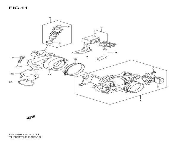 Batería inyectores Suzuki Burgman 125 2007-2009