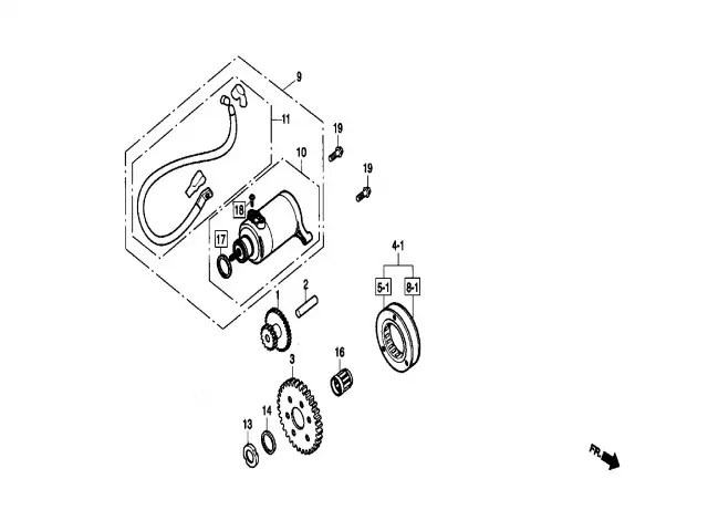 Motor arranque Daelim Ns 125 1999-2002