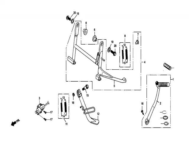 Pedal de arranque Daelim Ns 125 1999-2002