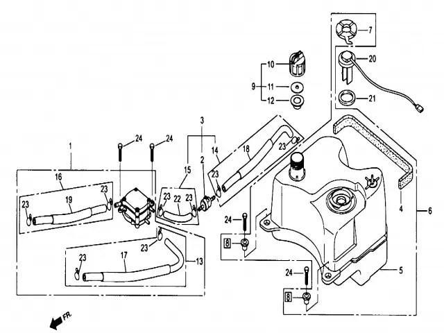 Bomba gasolina Daelim Ns 125 1999-2002