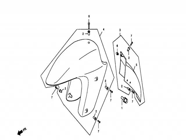 Aleta delantera Daelim Ns 125 1999-2002