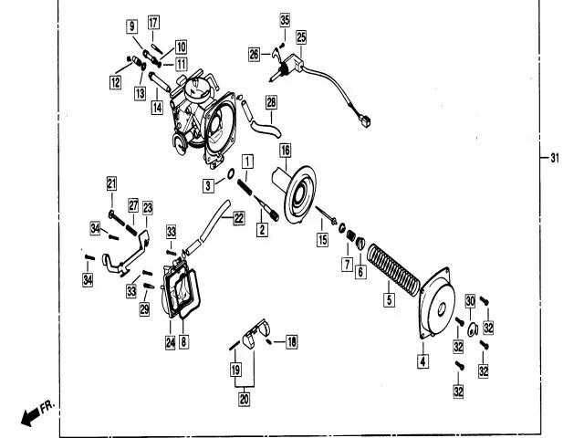 Bateria carburadores Daelim Ns 125 1999-2002