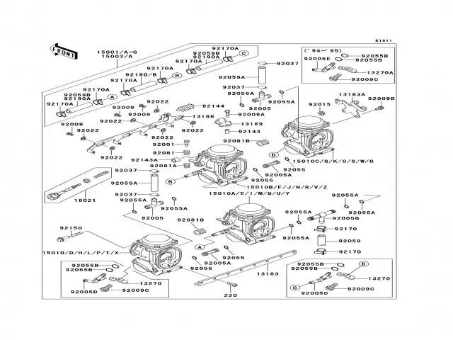 Batería carburadores Kawasaki Zzr 600 1994-1996