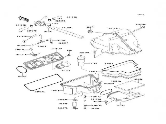 Caja filtro aire Kawasaki Zzr 600 1990-1993