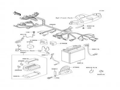 Sistema eléctrico completo Kawasaki Zzr 600 1990-1993