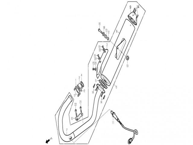 Sonda landa Daelim roadwin 125r fi 125 2007-2011