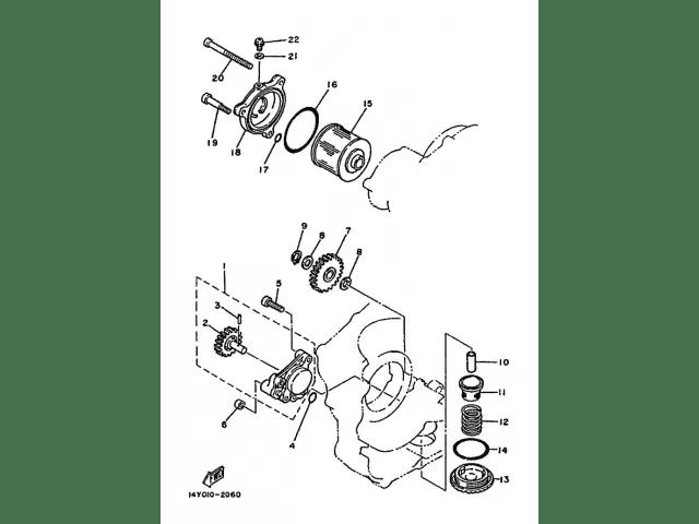 Tapa filtro aceite YAMAHA SR 250 1980-1989 Recambio Ocasion