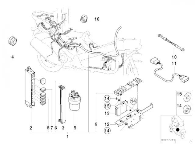 Sistema electrico completo con Abs Bmw C1 125 cc y 200 cc