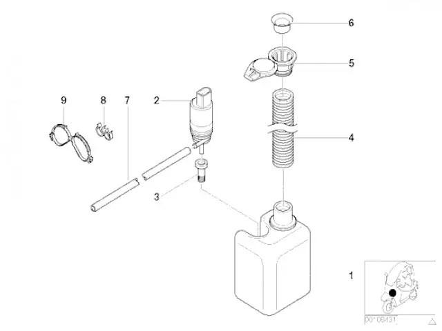 Deposito agua limpia parabrisas Bmw C1 125 cc y 200 cc