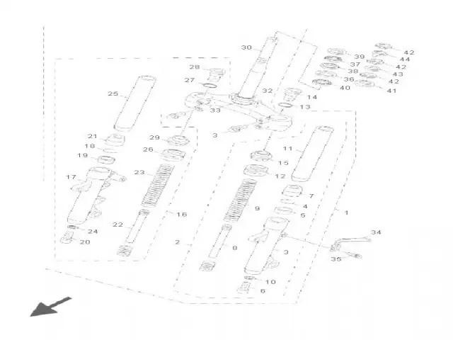 Barra completa derecha Yamaha Cygnus 125 2004-2005