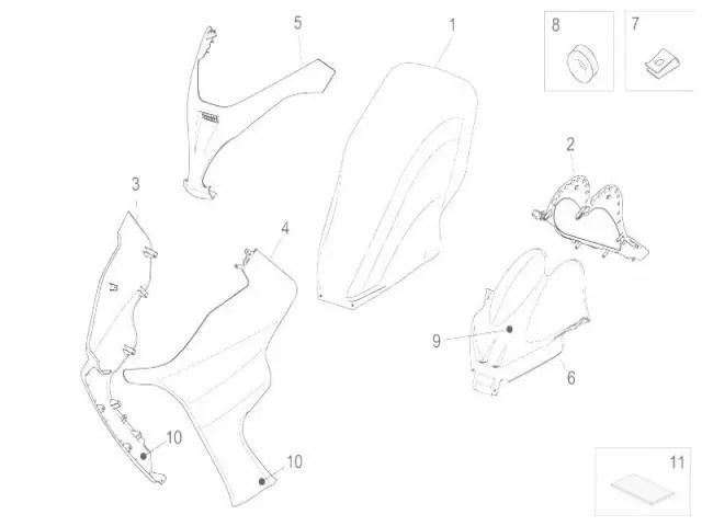 Carenado superior Aprilia Arrecife 250 2004-2011