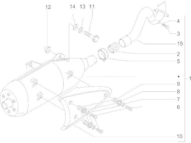 Embellecedor silencioso Piaggio X9 250 2004-2012