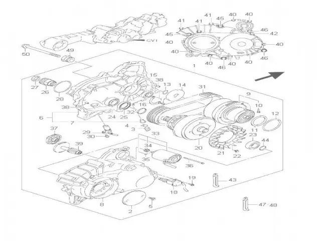 Motor cvt Suzuki Burgman 650 2007-2012