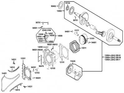 Cilindro de motor Kymco Xciting 500, I evo, i r abs, i