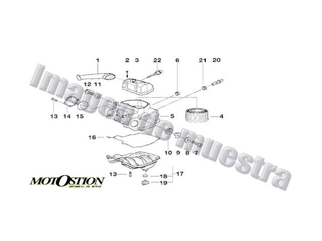 Embellecedor deposito APRILIA RS 125 1999-2002 motodesguace