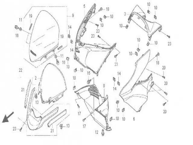 Boca tiburon Honda Pcx 125 2010-2014