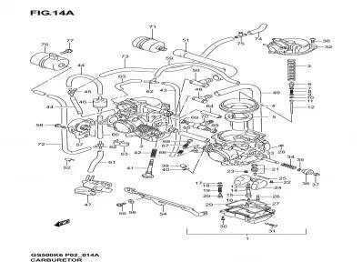 Bateria carburadores sensor tps Suzuki Gs f 500 2002-2008