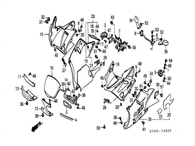Bandeja relojes Honda Nsr 125 1990-1993