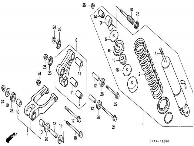 Amortiguador Honda Nsr 125 1990-1993